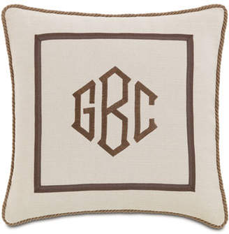 Vivo Eastern Accents Bisque Pillow with Monogram