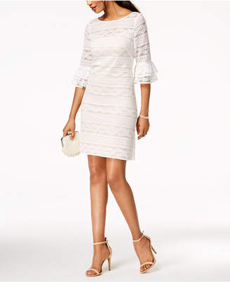 Jessica Howard Lace Bell-Sleeve Dress