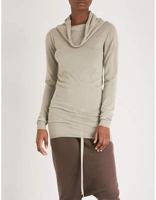 Rick Owens Cowl-neck cashmere jumper