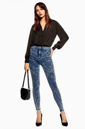 Topshop Womens Acid Blue Joni Jeans