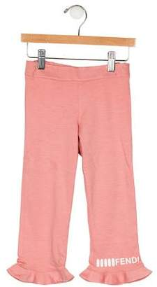 Fendi Girls Ruffle Pants