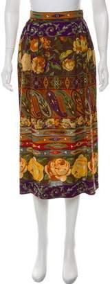 Ungaro Printed Midi Skirt