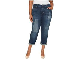 NYDJ Plus Size Plus Size Boyfriend Jeans with Laser Shadow Patch and Embroidery in Horizon Women's Jeans