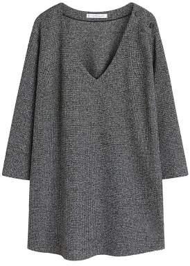 Violeta BY MANGO Button textured sweatshirt