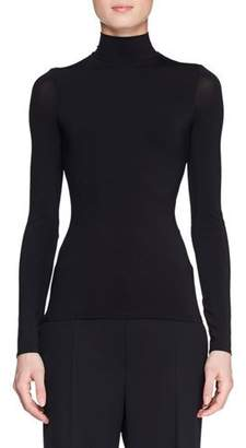 The Row Rudd Long-Sleeve Stretch-Jersey Turtleneck Top