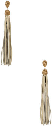Natalie B Fascino Leather Tassel Earrings