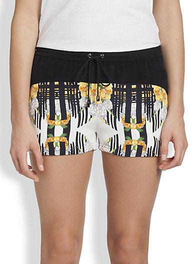 Rebecca Minkoff Pisco Printed Silk Shorts