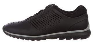 Zegna Sport Perforated Rubber Low-Top Sneakers