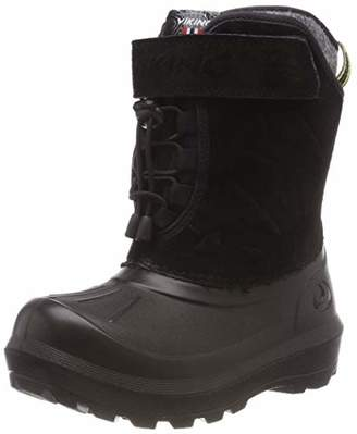 Viking Unisex Kids' Nordlys Suede Snow Boots, (Black/Dark Grey), 6.5