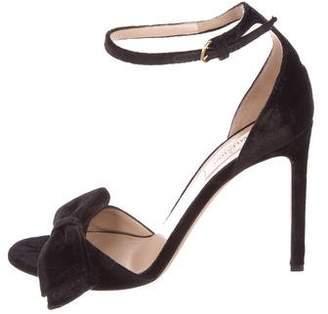 Valentino Velvet Bow Sandals