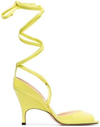 Ballin Alchimia Di yellow Lidae 95 leather sandals