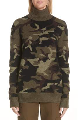 Michael Kors Camouflage Cashmere Turtleneck Sweater