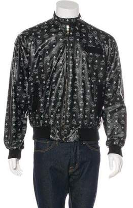 MCM Vintage Leather Bomber Jacket