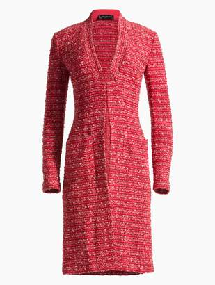St. John Inlay Boucle Striped Knit Jacket