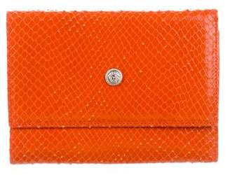 Gianni Versace Snakeskin Compact Wallet