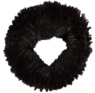 Helmut Lang Fur & Wool Knit Infinity Scarf