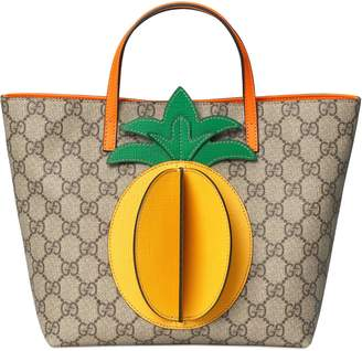 Gucci Children's GG tote with pineapple