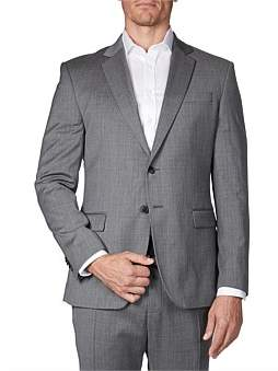 Geoffrey Beene Slim Fit Grey Tonal Microstructure Suit Jacket