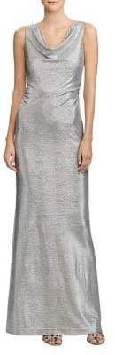 Lauren Ralph Lauren Metallic Sleeveless Floor-Length Gown
