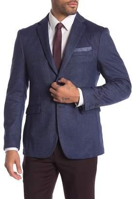 Original Penguin Blue Herringbone Two Button Notch Lapel Suit Separates Blazer