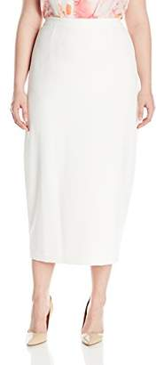 Kasper Women's Plus Size Stretch Crepe Column Skirt,18W