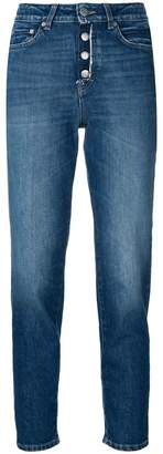 Closed high rise buttoned jeans