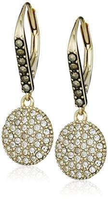 "Judith Jack Classics"" -Tone Sterling Silver and Swarovski Drop Earrings"