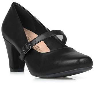 Comfeite Women's Mary Jane High Heel Pump in Black