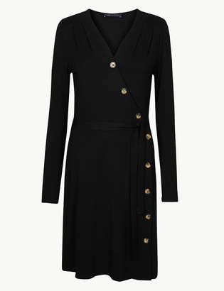 Marks and Spencer Jersey Button Wrap Dress