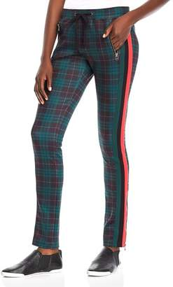 Pam & Gela Stewart Plaid Cigarette Track Pants