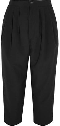 Comme des Garçons Comme des Garçons - Cropped Pleated Wool Tapered Pants - Black $410 thestylecure.com