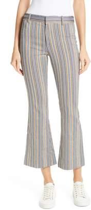 Derek Lam 10 Crosby Stripe Crop Flare Trousers