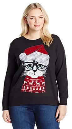 Just My Size Women's Plus Size Ugly Christmas Sweatshirt