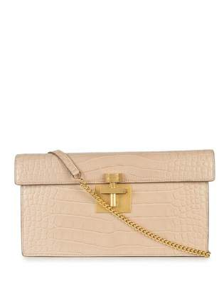 Oscar de la Renta Blush Alligator Alibi Clutch