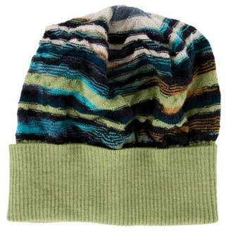 Missoni Knit Abstract Pattern Beanie
