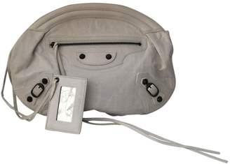 Balenciaga White Leather Clutch bag
