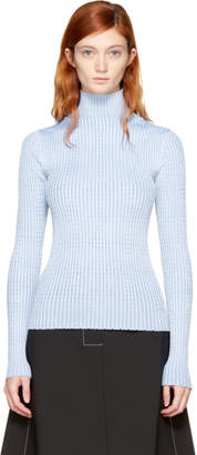Maison Margiela Blue Rib Knit Turtleneck