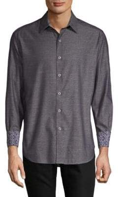 Robert Graham Fastback Cotton Casual Button-Down Shirt