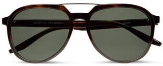 Barton Perreira Bulgar Aviator-Style Tortoiseshell Acetate and Silver-Tone Sunglasses