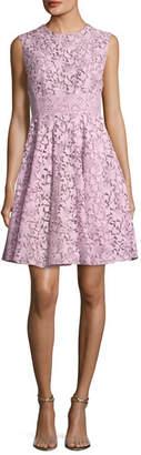 Giambattista Valli Sleeveless A-Line Lace Dress