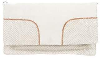 Theory Embossed Flap Clutch