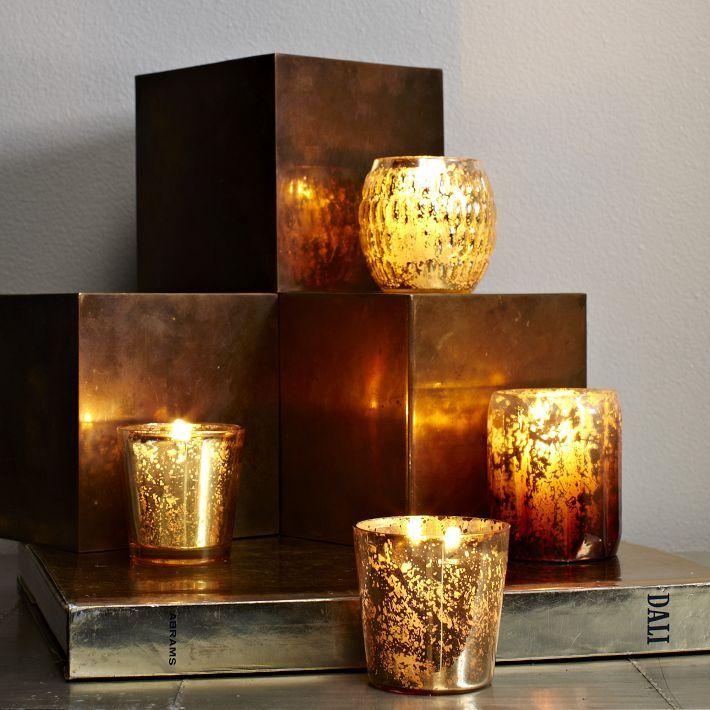 west elm Gold Mercury Candleholders