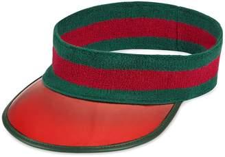 Gucci Vinyl visor with Web