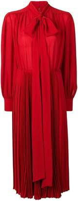 Valentino pleated midi dress