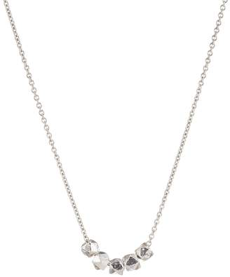 FEATHER+STONE - Silver Faceted Bead Necklace