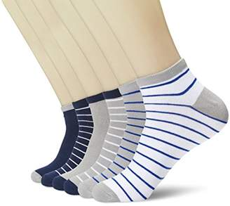 Toes in A Blanket Men's classic fashion stripes ankle socks 6-pair pack