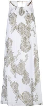Maryan Mehlhorn Pleated Necklace Dress