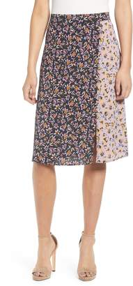 Band of Gypsies New Orleans Mixed Floral Print Skirt