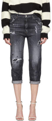 DSQUARED2 Black Steela Wash Dennis Jeans
