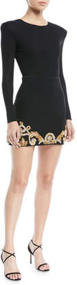 Versace Long-Sleeve Bodysuit with Shoulder Pads